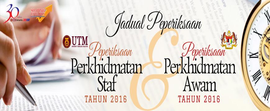 Jadual Peperiksaan Perkhidmatan 2016