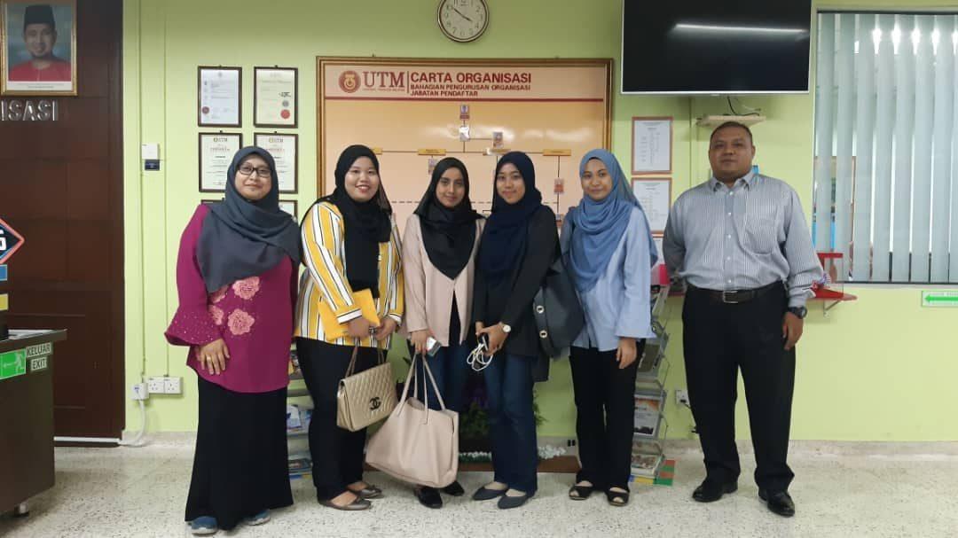 Lawatan Penyelidikan Pelajar UiTM Segamat ke UTM