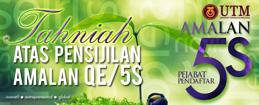 Tahniah Atas Pensijilan Amalan QE/5S Pejabat Pendaftar