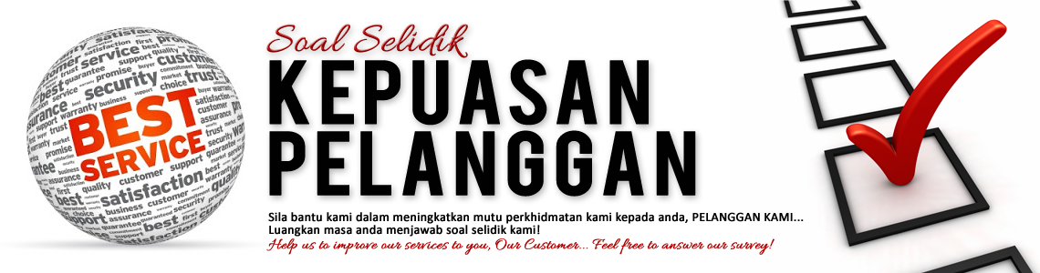 Jawab Soalselidik Kepuasan Pelanggan kami (2015) – Pejabat Pendaftar