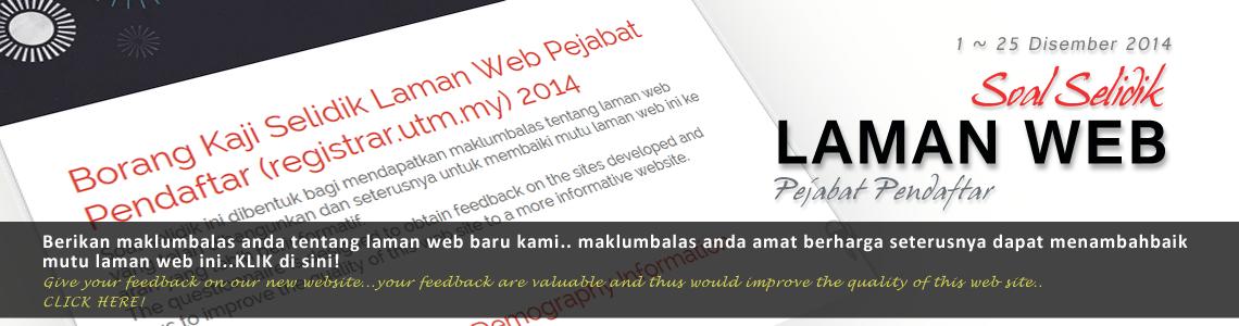 Soal Selidik Laman Web Pejabat Pendaftar UTM