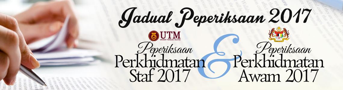 Jadual Peperiksaan Perkhidmatan 2017