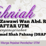 Tahniah Dato Hj Wan Mohd Zawawi